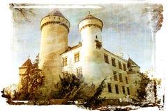 Wit kasteel royalty-vrije stock afbeeldingen