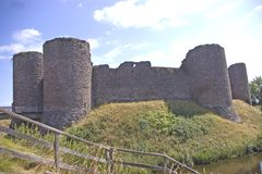 Wit Kasteel Zuid-Wales stock afbeelding