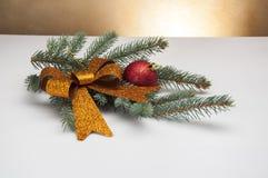 Wit Kerstmisthema met giften Stock Foto