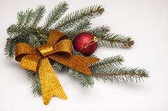 Wit Kerstmisthema met giften Royalty-vrije Stock Foto