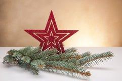Wit Kerstmisthema met giften Stock Afbeeldingen