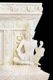 Wit kluizenaarstandbeeld in tempel Royalty-vrije Stock Afbeeldingen