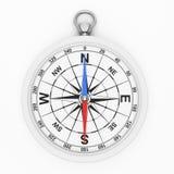 Wit kompaspictogram Royalty-vrije Stock Afbeeldingen