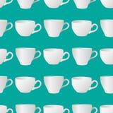 Wit koppen naadloos patroon 3 Stock Foto