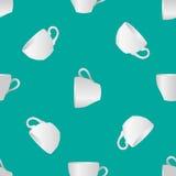 Wit koppen naadloos patroon 1 Stock Foto