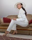 Wit kostuum Stock Fotografie