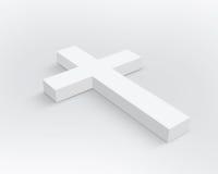 Wit Kruis Stock Afbeelding