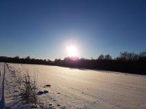 Wit Landschap 1 royalty-vrije stock afbeelding