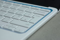 Wit laptop toetsenbord Royalty-vrije Stock Foto's