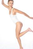 Wit lichaamskostuum stock fotografie