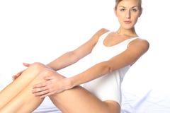 Wit lichaamskostuum stock afbeelding