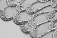 Wit materieel de textuur macroschot van het bloemkant Royalty-vrije Stock Afbeeldingen