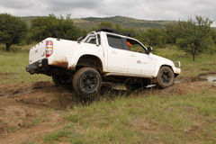 Wit Mazda BT-50 4x4 3L Stock Foto's