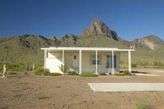 Wit modulair huis Royalty-vrije Stock Foto
