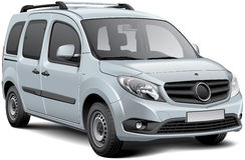 Wit multifunctioneel voertuig Royalty-vrije Stock Afbeeldingen