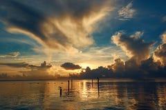 Świt na morzu karaibskim Zdjęcia Stock