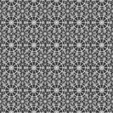 Wit naadloos kanten kantpatroon op zwarte Royalty-vrije Stock Foto's
