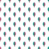 Wit Naadloos Patroon met Abstracte Kleurrijke Bomen Stock Fotografie