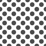 Wit Naadloos Patroon met Groot Grey Polka Dots Stock Afbeeldingen