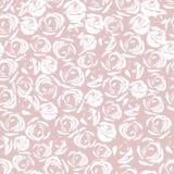 Wit nam bloemenornament toe Naadloos patroon Royalty-vrije Stock Afbeelding