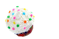 Wit op witte cupcake Stock Afbeelding