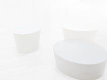 Wit op witte voorwerpen Stock Afbeelding