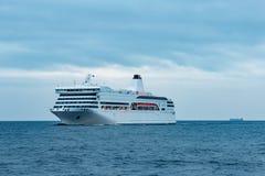 Wit passagiersschip Royalty-vrije Stock Foto
