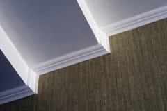 Wit plafond groen behang Royalty-vrije Stock Fotografie