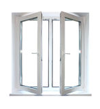 Wit plastic venster royalty-vrije stock afbeelding