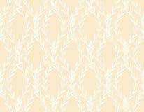 Wit Rich Floral Seamless Pattern van Bladeren Stock Foto
