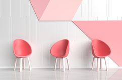 Wit-rode roze ruimte van liefde Zalen van Liefde op de Dag van Valentine ` s Stock Afbeelding