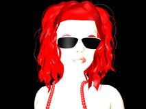 Wit rood hoofd stock illustratie