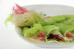 Wit, roze en groene gesponnen suikerkleur Royalty-vrije Stock Foto