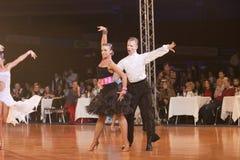 WIT-RUSLAND, 15 JANUARI: Pavel snegir-Arina Haritonenko Royalty-vrije Stock Fotografie
