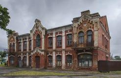 Wit-Rusland, Baranovichi: oud huis Stock Afbeeldingen