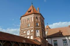 Wit-Rusland, het gebied van Grodno Toren van Mir Castle Stock Afbeelding
