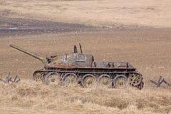 wit-rusland minsk Het museum van de vroegere Lijn van Stalin Roestige anti-tank Royalty-vrije Stock Afbeeldingen