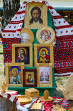 Wit-Rusland, Stad van Meestersgebeurtenis De tentoonstelling en de verkoop van produ Royalty-vrije Stock Afbeelding