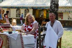Wit-Rusland, Stad van Meestersgebeurtenis De tentoonstelling en de verkoop van produ Royalty-vrije Stock Foto