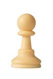 Wit schaakpand Stock Afbeeldingen