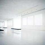Wit schoon galerijbinnenland Royalty-vrije Stock Afbeeldingen