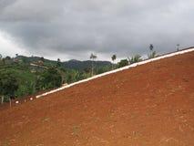 Wit silhouet een Landkunst 1 Royalty-vrije Stock Afbeeldingen