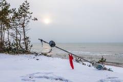 Wit sneeuw-bevlekt meer stock foto