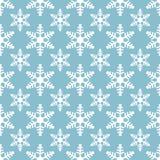 Wit sneeuwvlokken naadloos patroon op blauwe achtergrond royalty-vrije illustratie