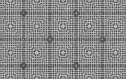 Wit snijdend vierkantenpatroon over een ruwe grungy grijze achtergrond stock illustratie