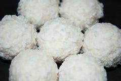 Wit suikergoed met kokosnoot Royalty-vrije Stock Foto's