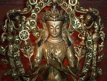 Wit Tara Statue-symbool van liefde en medeleven royalty-vrije stock foto's
