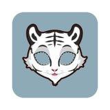 Wit tijgermasker voor diverse festiviteiten, partijen vector illustratie