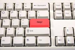 Wit toetsenbord met de verandering van de knoopnaam Stock Fotografie
