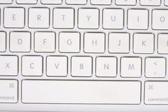 Wit toetsenbord met letters en getallen. Royalty-vrije Stock Afbeelding